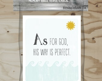 Bible A to Z - Memory Verse Cards
