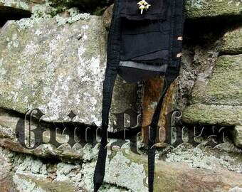 Medicine Bag Rattlesnake Bone pouch necklace Dystopian Gothic