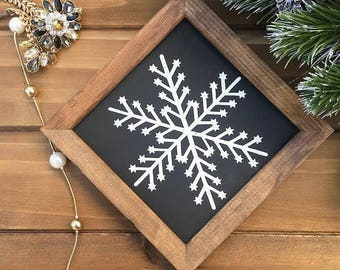 holiday decor snowflake holiday decorations christmas gift christmas decor wooden rustic sign wooden sign christmas decoration