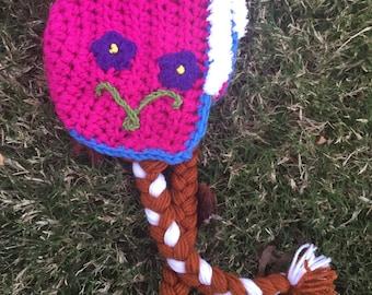 Anna inspired crochet hat with braids