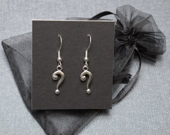 Question mark earrings – costume accessory – convention jewelry – cosplay prop jewellery