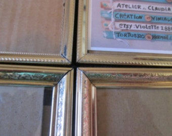 Vintage 4 frames in vintage brass / Vintage 4 frames in vintage brass