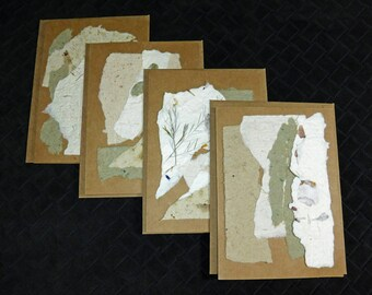 Handmade Paper / Note Cards / Natural Paper / Decorative Paper / DIY Invitations / Floral Paper / Scrapbooking