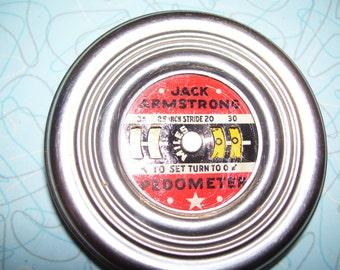 Vintage Jack Armstrong Pedometer.