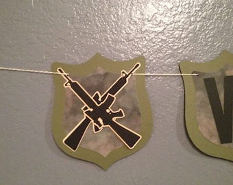 Deployment Banner, Military Banner, Army Banner, Camouflage Banner, God Bless, We Love You