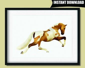 Horse Print, Wild Horse Wall Art, Horse Lover Gift, Horse Nursery Print, Horse Printable Art, Nursery Room Decor Wall Art Printables (P50)
