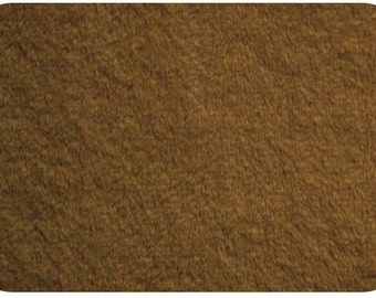 Minky fabric Mocha, 1 yard cut