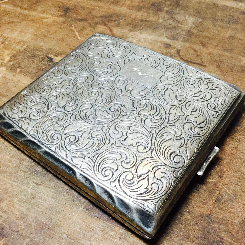 Alpaca Elde Silver Cigarette Case Card Holder Cigarette