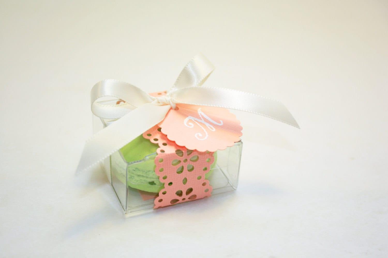 Pink Macaron Favor box - Wedding Favor Boxes - 30 Favor Boxes ...