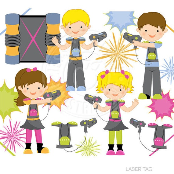 laser tag cute digital clipart commercial use ok laser tag rh etsy com laser tag gun clipart laser tag target clipart