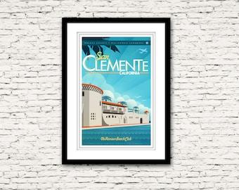 San Clemente California Print 16x24