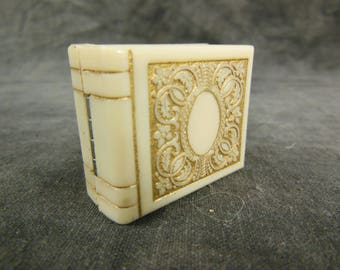 Art Deco Celluloid Bakelite Ring Box by Goldman Jewelers, Milwaukee, WI, Ring Case, In Original Box