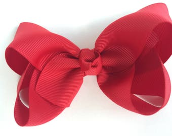 YOU PICK color hair bow - hair bows, 4 inch hair bows, girls bows, baby bows, girls hair bows, toddler bows, boutique bows, hair bow, bows
