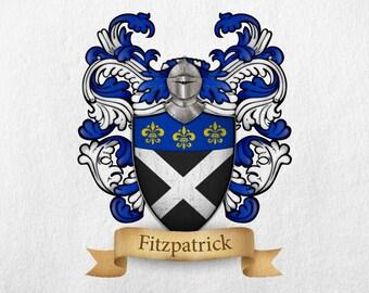 Fitzpatrick Family Crest - Print