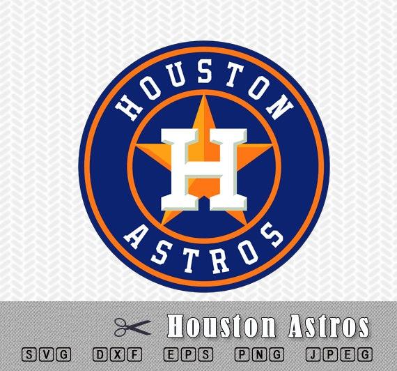 Svg Houston Astros Baseball Layered Logo Vector Cut File