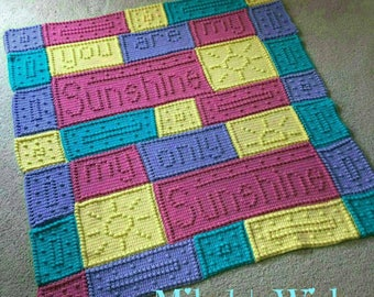 You Are My Sunshine Blanket- - - pre order for May 2018 Delivery
