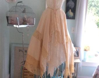 Woodland Fairytale Wedding Dress Cream and Antique Lace Enchanting