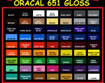 6...5 Foot Rolls of Oracal 651 Adhesive Vinyl - Your Choice of Colors