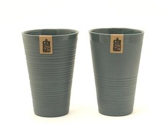 Modern large porcelain mug, XL mug, contemporary ceramics, minimalist mug, anthracite mug, porcelain mug, wedding gift