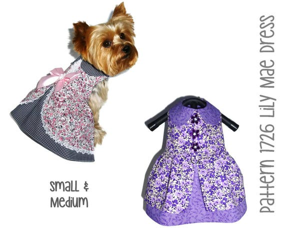 Lily Mae Dog Dress Pattern 1726 Dog Dresses Dog Clothes