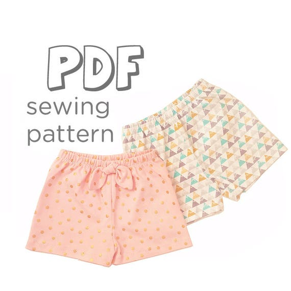 Baby and Toddler Shorts Sewing Pattern Download, Newborn - 5T. Works ...