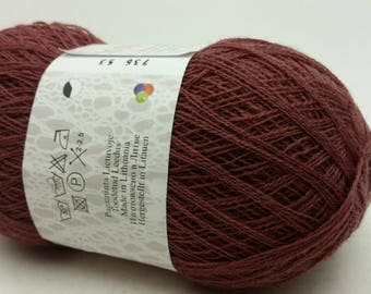 100% Wool Brown-Pink Yarn Haapsalu Shawl Yarn