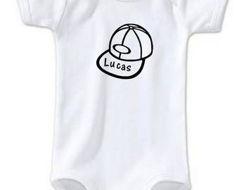 Baby Hat personalized with name Bodysuit