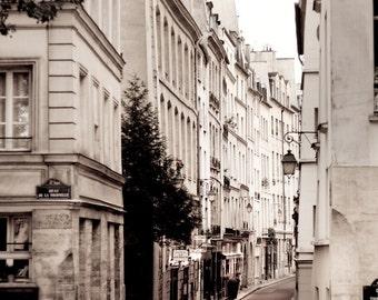 Paris Photography - Street Scene, Paris decor, Buildings, Architectural Fine Art Photograph, Urban Home Decor