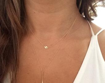 White gold evil eye etsy 14k solid gold evil eye necklace good luck necklace aloadofball Gallery