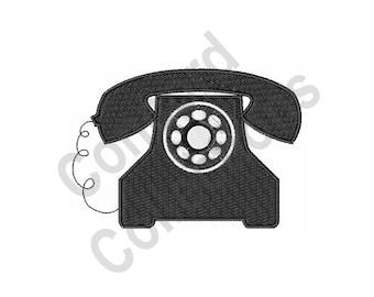 Telephone - Machine Embroidery Design, Phone