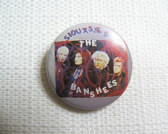 Vintage 80s Siouxsie Sioux - Siouxsie and the Banshees Band Photo Pin / Button / Badge