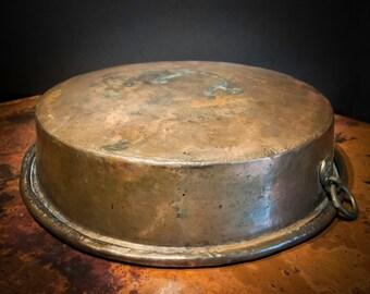 Antique Turkish Copper over Pewter Pot