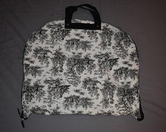 Black Toile Hanging Garment Bag