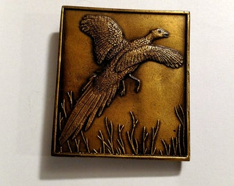Men's Belt Buckle - Pheasant Flying Belt Buckle - Present for him