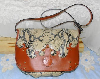 Never Used / Carlos Falchi Leather Shoulderbag Purse