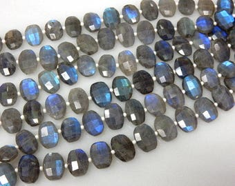 Full Flash Blue Fire Labradorite Gemstone Faceted Oval  Beads AAA Quality Size - 10x14MM Wholesale Price