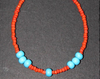 African bracelet, african jewellry, jewelry,africa ancle , anclet, beaded bracelet,seed bead bracelet, tibetian bracelet, orange , blue ,hip