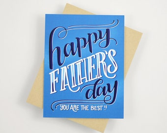 Happy father's day, you are the best - one card with a kraft envelope