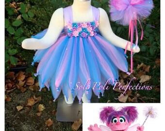 Abby Cadabby Tutu, Tutu Costume, Tutu Dress, Abby Cadabby Costume, Pink Tutu, Purple Tutu, Tutu Set, Infant Tutu, Birthday Tutu, Tutu Dress