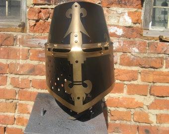 Great Helm, Germanisches Nationalmuseum, Nuremberg (reconstruction). Steel