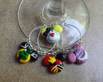 Alice in Wonderland and Friends Mickey Mouse Inspired Wine Charms