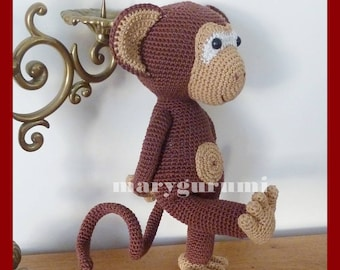 Monkey, Amigurumi crochet plush