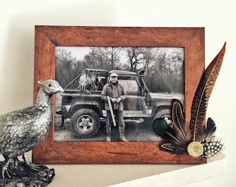 Feather & Cartridge Photo Frame 7 x 5 - Green or Orange