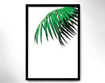 tropical mood poster, green botanical print, wall decor, green plant print, tropical mood