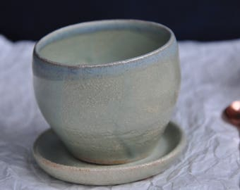 New Green and Pearl Tea Cup, Pottery Mug, Ceramic Mug, Pottery Cup, ceramic cup