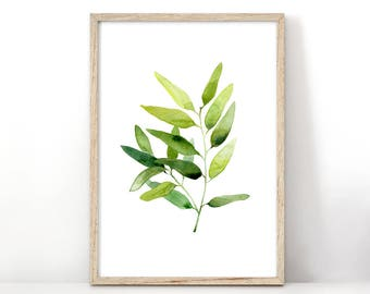 Eucalyptus Print Rustic Printable Nature Inspired Modern Plant Print Home Decor Eucalyptus Leaves Botanical Poster Watercolor Painting
