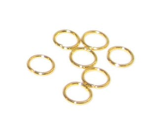 6mm Gold-Coated Jump Ring - approx. 200 rings