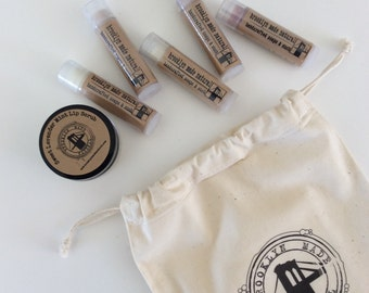 April Gift Set - Lip Balm Set - Natural Lip Balms - Organic Lip Scrub - Gift for a Girl - Lip Care Set -