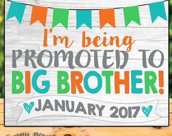 Promoted To Big Brother Sign, Pregnancy Announcement Chalkboard, Pregnancy Announcement Sign, Pregnancy Reveal, Big Brother To Be Sign
