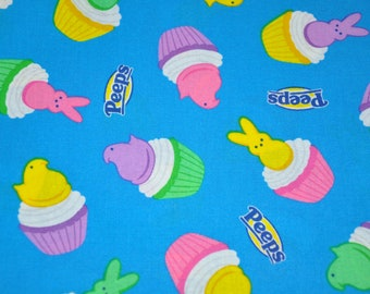 New! 1/2 Yard of Marshmallow Chick Cupcakes - Easter - Cotton Quilt Fabric